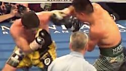 El boxeador Stephen Smith casi pierde la oreja (video MUUUY