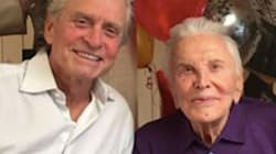 Kirk Douglas Rings In 101st Birthday With Son Michael And Famous
