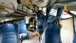 Nel treno deragliato: immagini di distruzione nel video dei vigili del