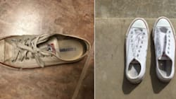 This Trick For Cleaning Sneakers Gets Mind-Blowing