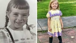 Depuis 1950, toutes les filles de cette famille portent la même robe pour entrer en