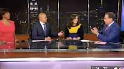TV Reporter's Water Breaks On