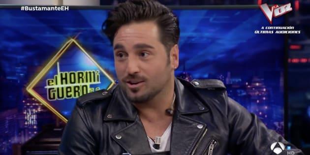 David Bustamante estuvo en 'El Hormiguero'.