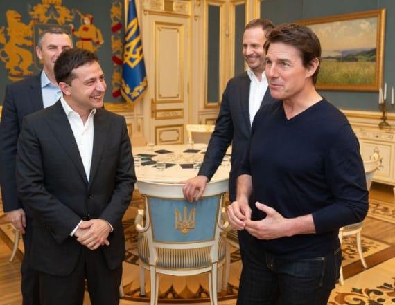 Ukraine president calls Tom Cruise 'good-looking'