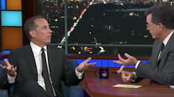 Late Show Host Stephen Colbert Changes Jerry Seinfeld's Mind On Bill