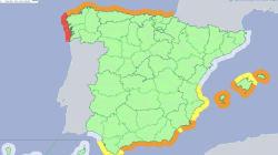 Llega la borrasca Helena al fin de semana: estas son las provincias en alerta naranja y