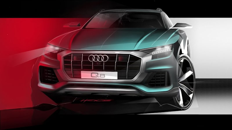 Audi Q8 SUV further detailed in official sketches