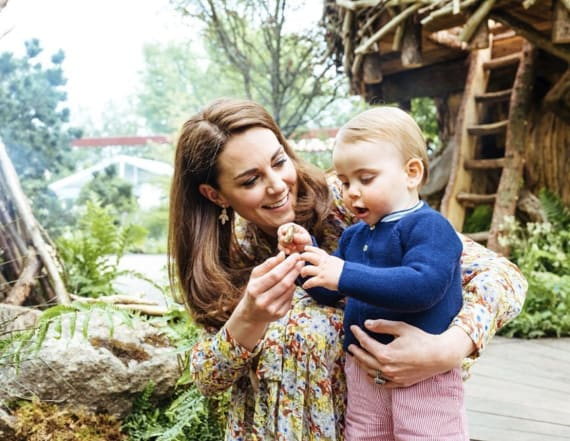 Kate snuck her kids back into Chelsea Flower Show