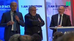 Un député embarrasse Collomb en lui rappelant qu'ils préparaient la candidature de Macron depuis son
