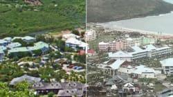 L'avant-après effrayant d'un village balnéaire de Saint-Martin après l'ouragan