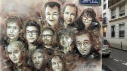 La fresque évolutive de C215 en hommage aux victimes de Charlie