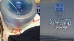 Hospital niega atención a embarazada y utiliza garrafón como