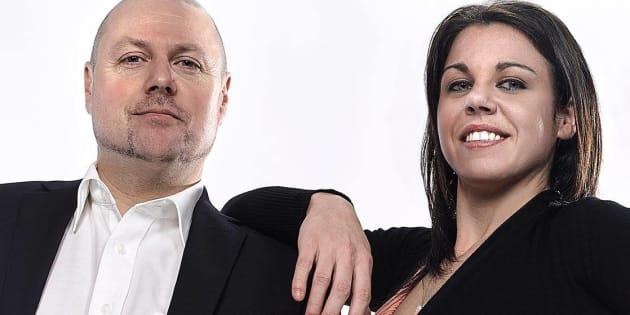 """Alain Lecompte et Cynthia Leblanc, candidats comme maire et """"co-mairesse"""" de Laval."""