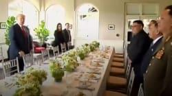 L'histoire retiendra que le déjeuner historique entre Trump et Kim s'est terminé sur une tarte