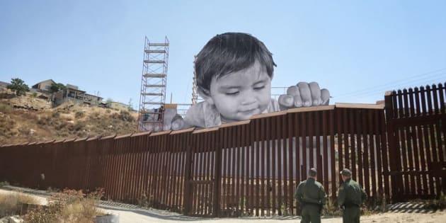 L'artiste JR a un projet pour le mur de Trump séparant le Mexique des États-Unis