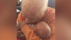 El emotivo encuentro entre un hombre de 105 años y su
