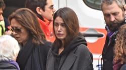 Il dolore di Francesca ai funerali del suo amato Davide