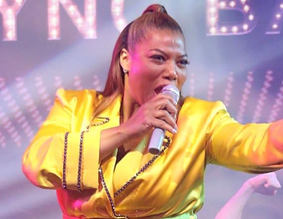 Queen Latifah's surprising pre-show routine