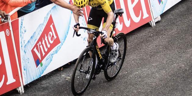 Geraint Thomas lors de la 17ème étape du Tour de France le mercredi 25 juillet.