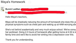 El email viral de una madre contra los deberes de su