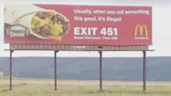 McDonald's Billboard Makes Stoner Joke, But Corporate Isn't