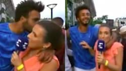 Tennis Player Banned From French Open After Forcibly Kissing Reporter On Live