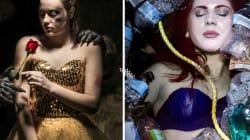Una fotógrafa representa a las princesas Disney como víctimas de