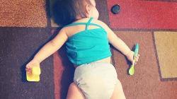 37 fotos de niños que decidieron tomar una siesta en donde 'les agarró el