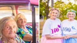 Estas gemelas celebraron 100 años de vida con una divertísima sesión de