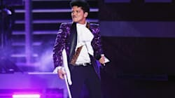Bruno Mars And The Time Rock Out To Prince Medley During Grammy