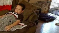 Grandma Makes Boy Shark Blanket With An NSFW