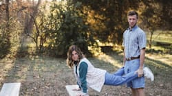 This Couple Embraced Every Bit Of Awkwardness For Their Engagement