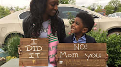 Mom And Son Inspire Thousands With Creative Graduation