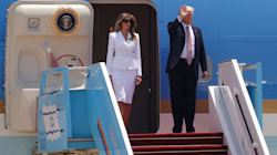 Watch Melania Trump Swat Donald Away When He Tries To Hold Her