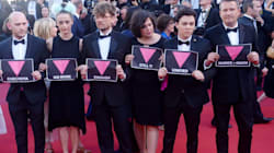 Cannes Film Festival Queer Palm Award Jury Stage Powerful LGBT Protest Condemning Chechnya Attacks On Gay