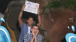 Couple's Splash Mountain Wedding Proposal Will Remind You Love