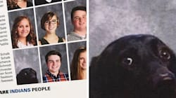 Service Dog Gets Photo In Yearbook Because He's A Very Good