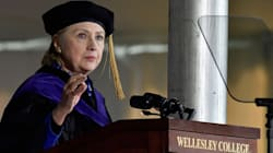 Hillary Clinton Compares Trump To Nixon In Passionate Commencement