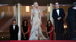 Uma Thurman Wows With Nearly-Naked Dress On Cannes Closing