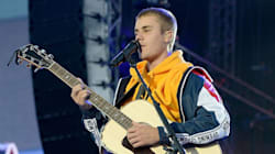 Justin Bieber Holds Back Tears During Manchester Benefit Concert
