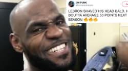 Twitter Lost Its Mind Over LeBron James' Shaved