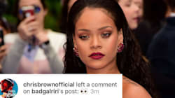 Chris Brown Commented On Rihanna's Instagram And People Are Having NONE of