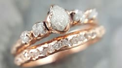 17 Raw Stone Engagement Rings That Will Appeal To The Offbeat