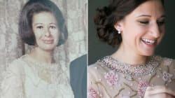 Esta mujer se casa con el vestido de novia de su abuela, y le queda como un