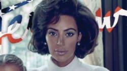 Kim Kardashian se transforma en Jackie O para la portada de
