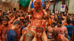 Brace Yourself For Some Seriously Messy Photos Of Spain's La Tomatina