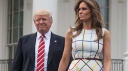 Trump vante les mérites du «travail américain» avec une photo de Melania portant une robe