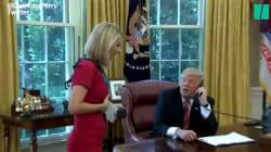 Trump interrompe la chiamata istituzionale per fare un apprezzamento alla
