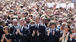 Crowds Gather In Barcelona For Poignant Minute Of Silence Following