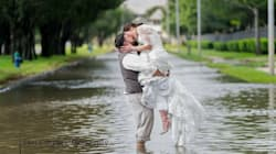 This Couple Refused To Let Hurricane Harvey Stop Them From Getting